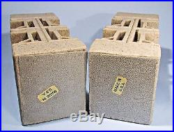 Frank Lloyd Wright Bookends Ennis House Textile Block Architectural Replica