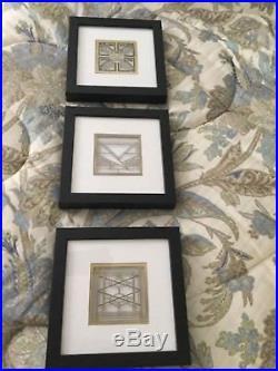 FRANK LLOYD WRIGHT Framed Art Metal Cut Outs Three 3 Frederick C Robie House