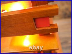 FRANK LLOYD WRIGHT Light TALIESIN 3 S2311 Wood Cherry Coated Modern Table Light