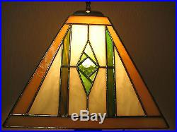 Frank Lloyd Wright Mission Style Stained Glass Table/desk Lamp One Of A Kind