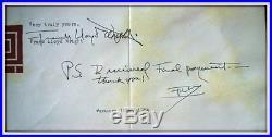 FRANK LLOYD WRIGHT Signed Letter