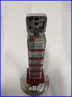 FRANK LLOYD WRIGHT Vintage Johnson's Wax Research Tower table lighter
