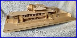 FRANK L WRIGHT Robie house vintage wood 1/8 scale model extremely rare