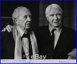 Frank LLOYD WRIGHT (Architect) & Carl SANDBURG (Author) Signed Photograph