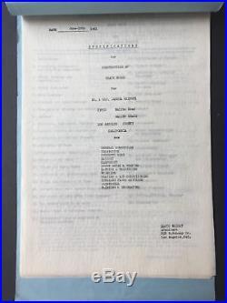 Frank Lloyd WRIGHT (Architect) Original 1961 Heifetz Family Architectural Plans