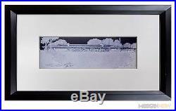 Frank Lloyd WRIGHT Lithograph #ed LIMITED Ed. Banff Pavillion +Custom FRAME