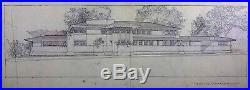Frank Lloyd WRIGHT Lithograph #ed LIMITED Heath House, Buffalo, NY withFrame