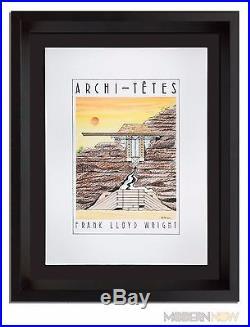 Frank Lloyd WRIGHT ORIGINAL Lithograph by Louis Hellman Signed RARE +++FRAMING