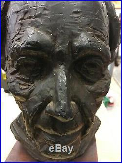 Frank Lloyd Wright 14 Bust Art Signed Joseph Konzal Mid Century Architect Rare