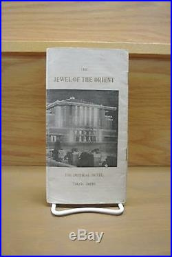 Frank Lloyd Wright 1923 The Jewel of the Orient The Imperial Hotel Tokyo