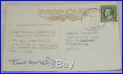 Frank Lloyd Wright 1949 Letter And A Post Card Autographed Signed