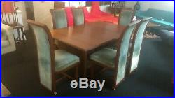 Frank Lloyd Wright 1955 Henredon Heritage Dining Set. Exceedingly Rare