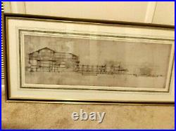Frank Lloyd Wright 1994 Imperial Hotel Tokyo Japan Framed Art Print. 48x24