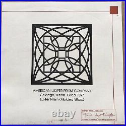 Frank Lloyd Wright American Luxfer Prism Company Laser Cut Shadow Box Wall Art