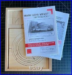 Frank Lloyd Wright Archiblocks Wood Blocks Guggenheim Museum Deluxe Version