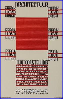 Frank Lloyd Wright Architectuur Tentoonstelling Poster Fine Art Lithograph S2
