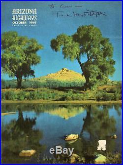 Frank Lloyd Wright Authentic Signed 1949 Arizona Highways Magazine BAS #A68023