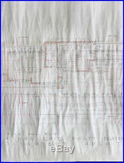 Frank Lloyd Wright Authentic Signed 24x35 Original General Floorplan BAS #A89664