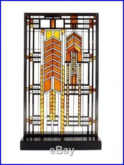 Frank Lloyd Wright Autumn Sumac Stained Art Glass Panel