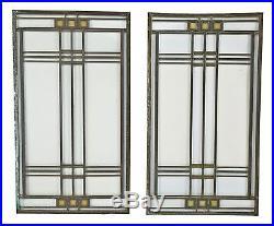 Frank Lloyd Wright Avery Coonley House Single Leaded Art Glass Window