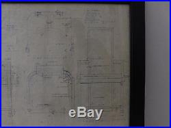 Frank Lloyd Wright Blue Line Dining Chair Plans. Diazo. Henredon Taliesin MCM