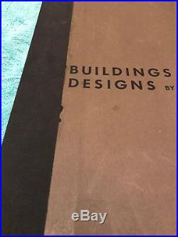 Frank Lloyd Wright Buildings Plans and Designs Horizon Press 1963 Folio #117B