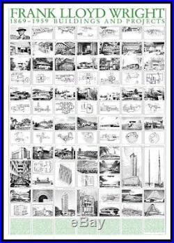 Frank Lloyd Wright Buildings and Projects Poster Kunstdruck im Rahmen 70x100cm