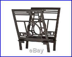 Frank Lloyd Wright COONLEY Design MAGAZINE RACK Cast Aluminum MADE in USA