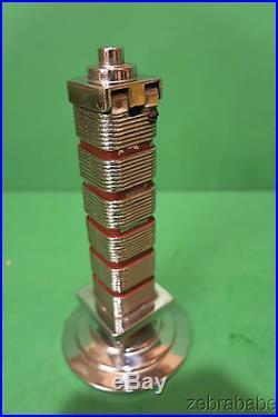 Frank Lloyd Wright Cigar Lighter Art Deco Johnson's Wax Research Tower 1940s