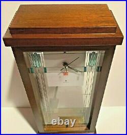 Frank Lloyd Wright Collection Willits Mantel Clock by Bulova B1839 NIB