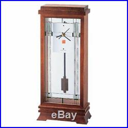 Frank Lloyd Wright Collection Willits Mantel Clock by Bulova, Walnut