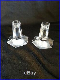 Frank Lloyd Wright Crystal Candle Stick Holders Tiffany style FDN 2000