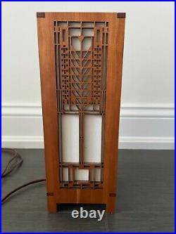 Frank Lloyd Wright Darwin D Martin House Tree Of Life Accent Lamp EUC