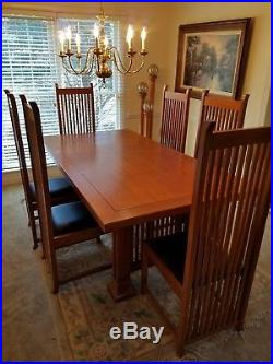 Frank Lloyd Wright Dining Room Set Taliesin 2 Table And Robie Style Chairs