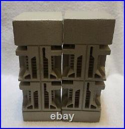 Frank Lloyd Wright Ennis House Textile Block Architectural Replica Bookends