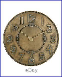 Frank Lloyd Wright Exhibition Font Wall Clock by Bulova