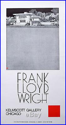 Frank Lloyd Wright Exhibition Poster from the Kelmscott Gallery, Chicago, 1981