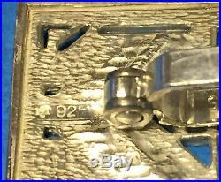 Frank Lloyd Wright - Exremely Rare Vintage Modernist Sterling Silver Cufflinks