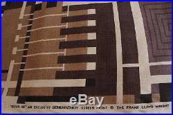 Frank Lloyd Wright Fabric Design 102 Taliesin line RARE Schumacher Screenprint