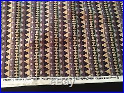 Frank Lloyd Wright Fabric / Textile, Schumacher, PRISM, 139 Inch Length, EC