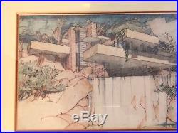 Frank Lloyd Wright Fallingwater, Mill Run Exhibition Print MOMA 1994 Framed MOMA