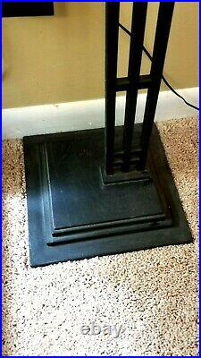 Frank Lloyd Wright Floor Standing Taliesin Design Clock In A Black Metal Frame
