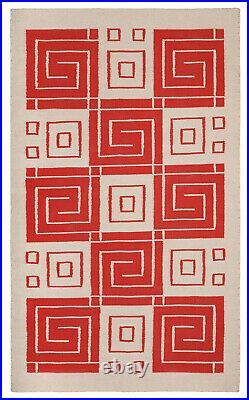 Frank Lloyd Wright Foundation Authorized Hand-Loomed Cotton Rug