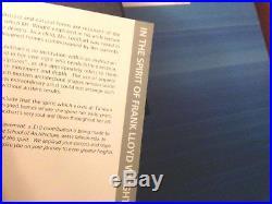Frank Lloyd Wright Foundation Crystal Award Bowl signed Susan Jacobs Lockhart