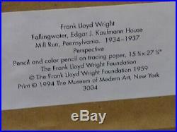 Frank Lloyd Wright Foundation Fallingwater Print MOMA Edgar J. Kaufmann House