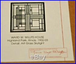 Frank Lloyd Wright Foundation WILLITS HOUSE Laser Cut Art in Framed Shadow Box