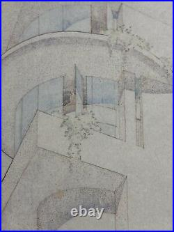 Frank Lloyd Wright Framed Print The Illinois Home Architecture Japan Print
