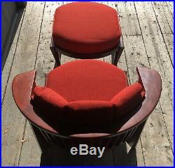 Frank Lloyd Wright Friedman Chair & Ottoman No. 00045 Cassina Italy 1986 RARE