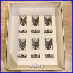 Frank Lloyd Wright Imperial Hotel Shot Glass 6 Customer Set Free Shipping EMS