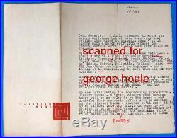 Frank Lloyd Wright Letter Signed Eugene Masselink Arizona Architect